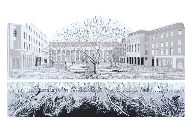 10 If the City were an Orchard, City Square, 175 x 80cm 2015