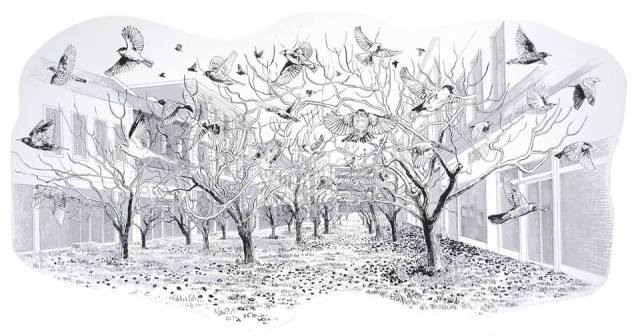 5 If the City were an Orchard, Murraygate, 2015 145 x 70 cm